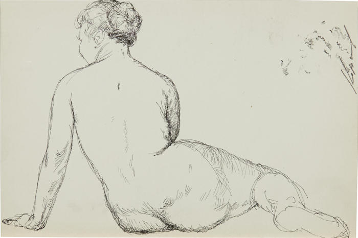 Geli Korzhev-A Nude from the Back-1980