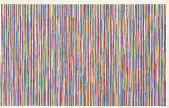 Gene Davis-Monet's Garden-1980