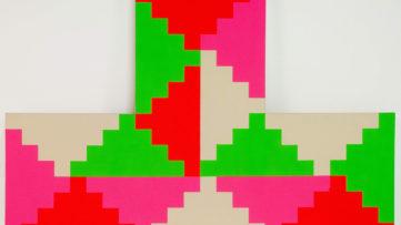 1968 General Idea Shaped Ziggurat Painting #2, 1986