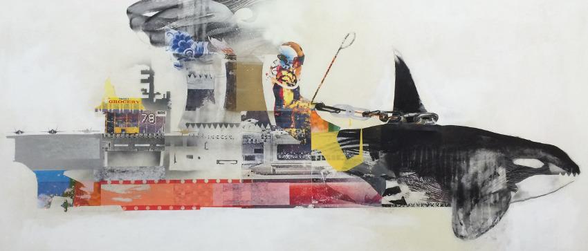 Gentleman's Game - Carrier Ships #1, 2014 - work - studio process