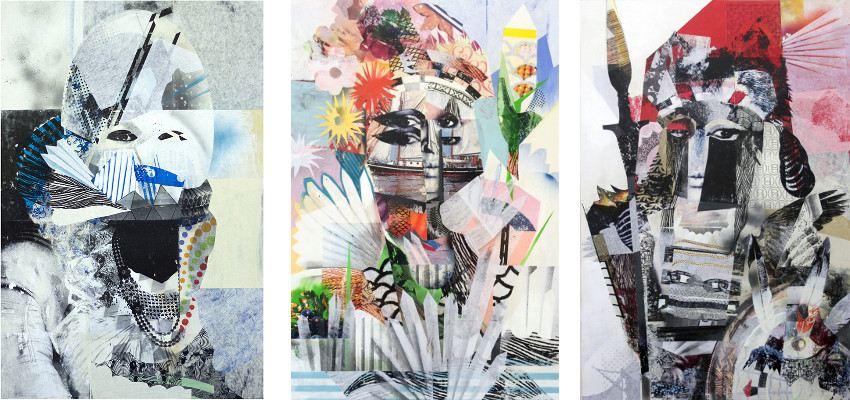 Gentleman's Game - Moon Goddess, 2013 / Love Goddess, 2013 / War Goddess, 2013 - mixed media works - artist