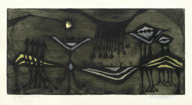 Geoffrey Clarke-A Collection (Birth of a Flower, Complexities of Man II, Untitled)-1953