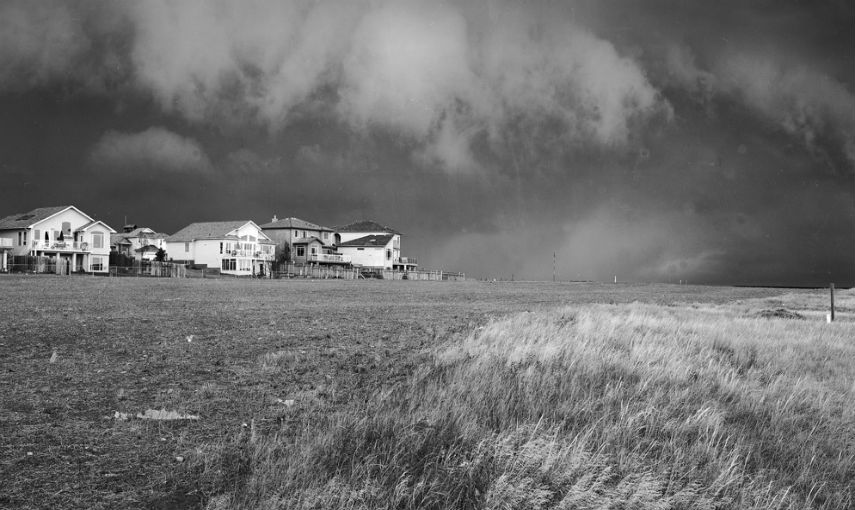 Geoffrey James -Approaching storm west lethbridge, 2011, photo via blueskygallery.com
