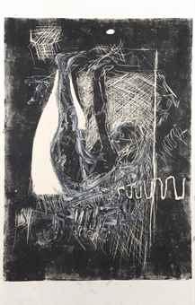 Georg Baselitz-Die Ahrenleserin II (The Gleaner)-1979