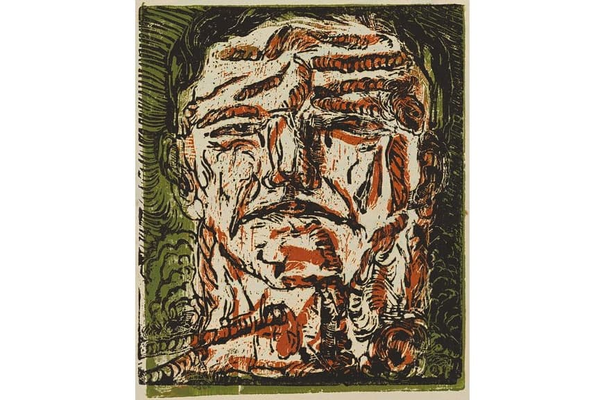 Georg Baselitz - Large Head, 1966