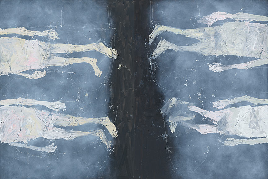 Georg Baselitz is a painter who had successful shows in 1990 and 2010