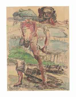 Georg Baselitz-Ohne Titel (Heimweg II) (Untitled (Way Home II))-1967