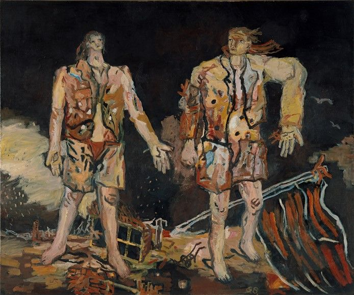 Georg Baselitz paintings work munich