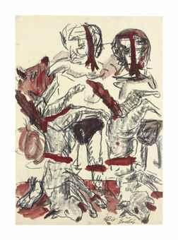 Georg Baselitz-Untitled (B. fur Larry)-1968
