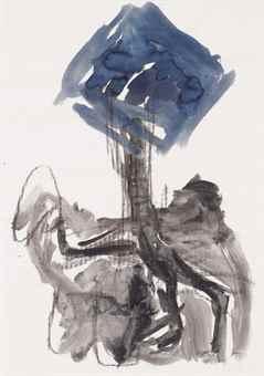 Georg Baselitz-Untitled (Birnbaum)-1978
