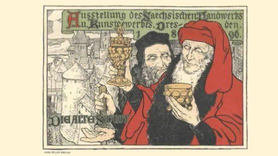 Georg Muller-Breslau - Dresden, Die Alte Stadt - 1897 (detail)