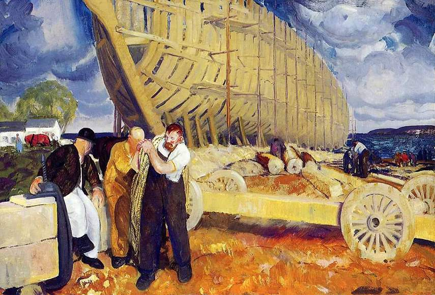 George Bellows - Builders of Ships, 1916 - image via metmuseum.org contact national home gallery search site