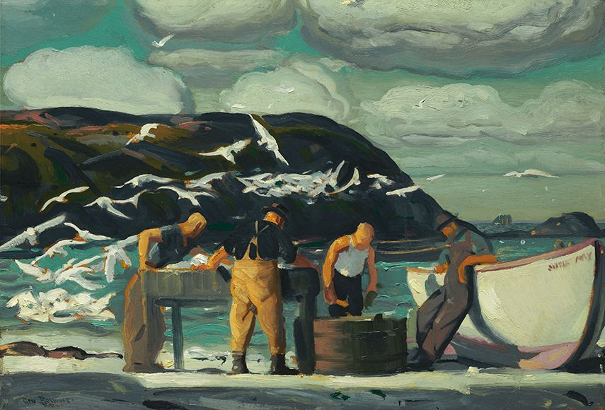 George Bellows - Cleaning Fish, 1913 - image via metmuseum.org