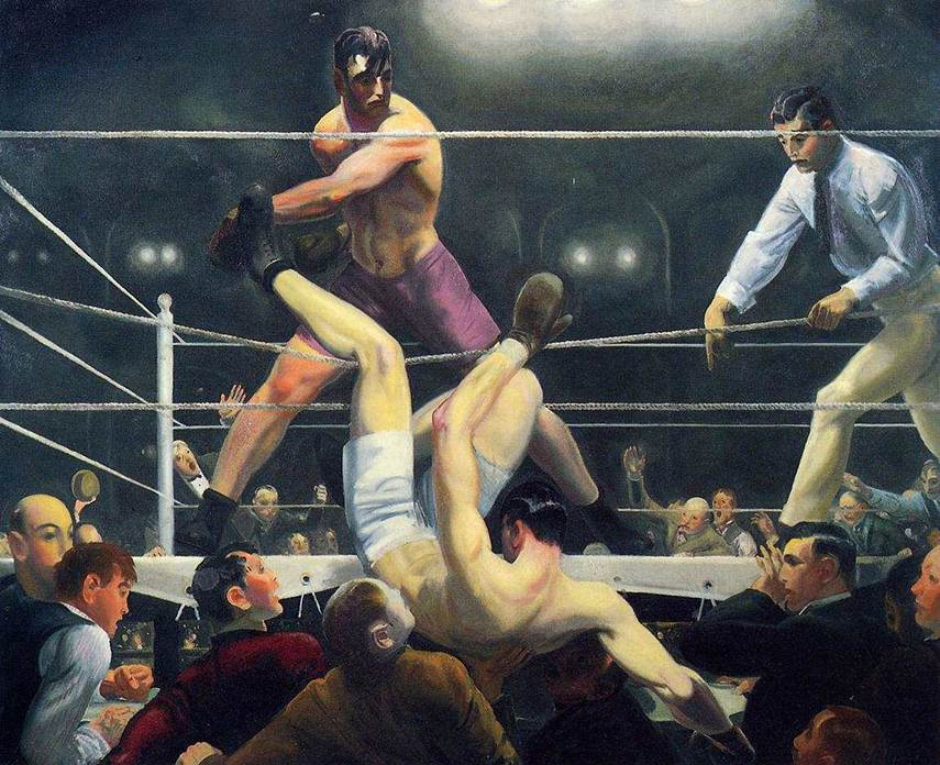 George Bellows - Dempsey and Firpo, 1924 - image via americanart.si.edu
