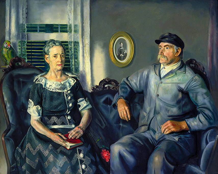 George Bellows - Mr. and Mrs. Phillip Wase, 1924 - image via americanart.si.edu national home search gallery