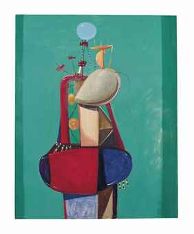 George Condo-Constructed Female Figure-1989