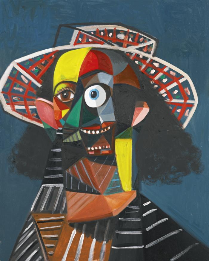 George Condo-Multi-Colored Farmer-2007
