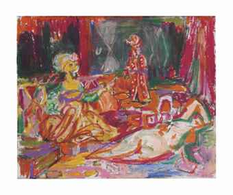 George Condo-Odalisque Improvisation-1988