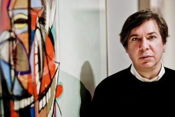 George Condo - Photo of the artist in his new home, London, 2014 - Photo via Sarah Lee, news privacy applied