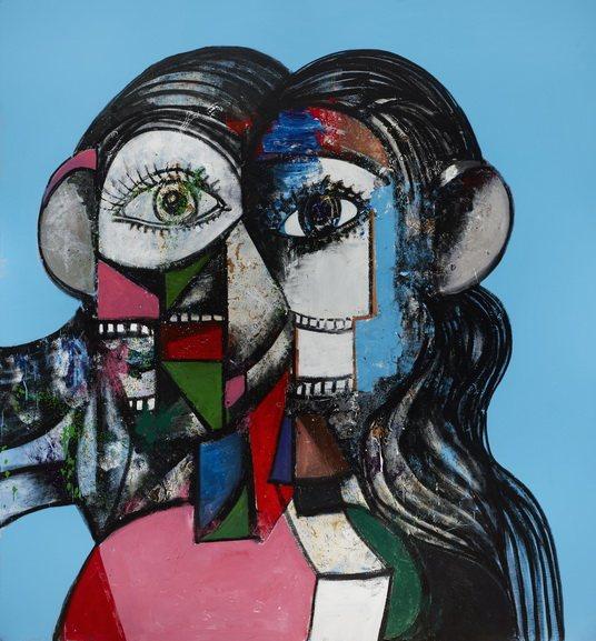 George Condo - Prismatic Head Composition