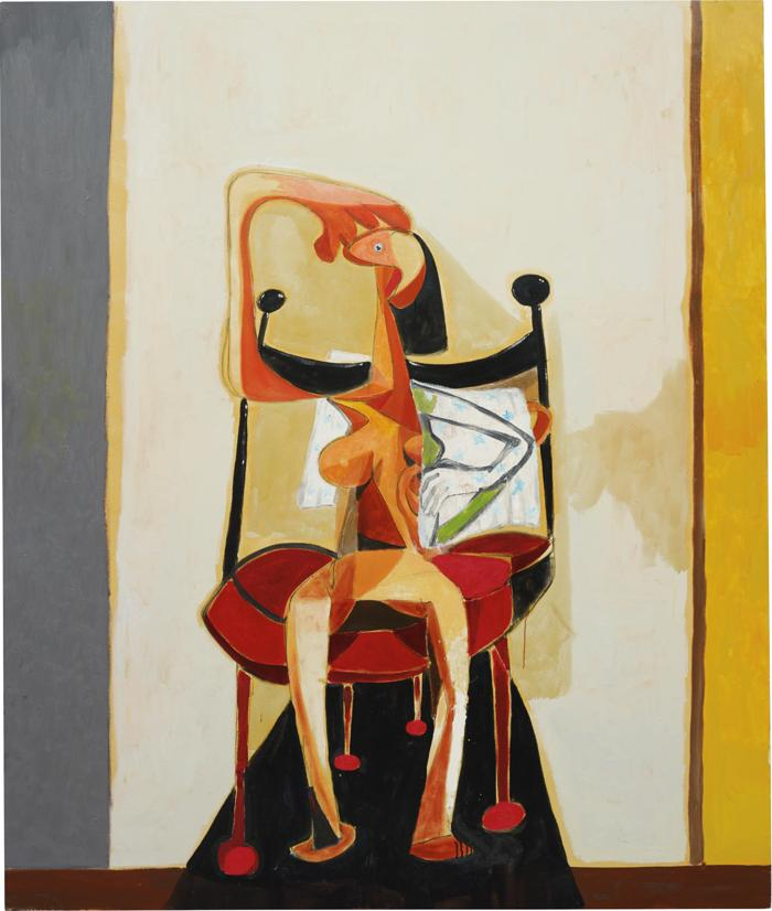 George Condo-Seated Figure with Towel-1989