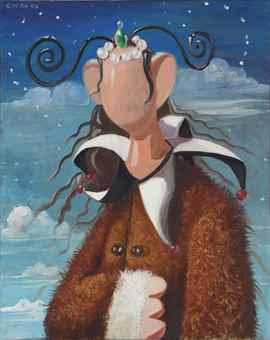 George Condo-The Monk-1996