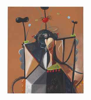 George Condo-The organized defunctionalization of the state being commonly known as multiheaded hydratic combustion often found lurching in the schisms of a fractured daydream-1995