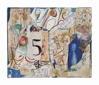 George Condo-Untitled (Sculptured Painting)-1987