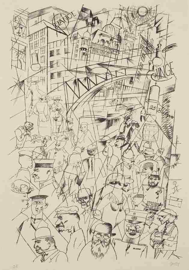 George Grosz-Friedrichstrasse-1918