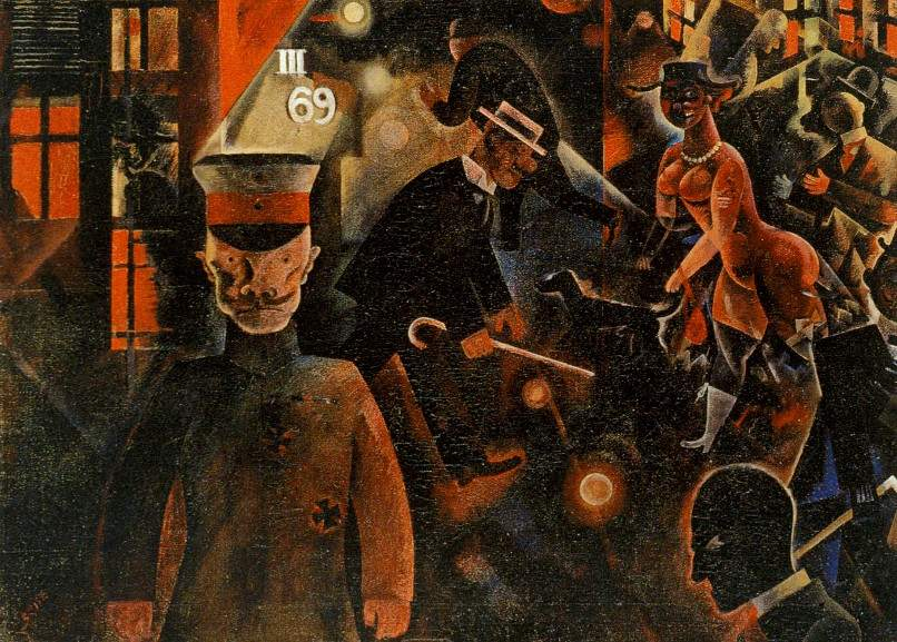 George Grosz - The Engineer Heartfield Exhibition - Image via momaorg