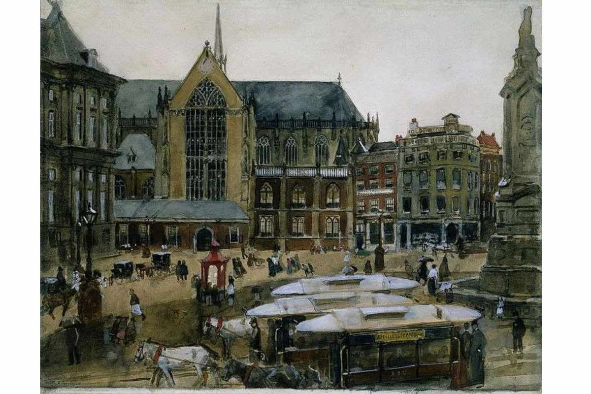 George Hendrik Breitner - The Dam, Amsterdam, 1895