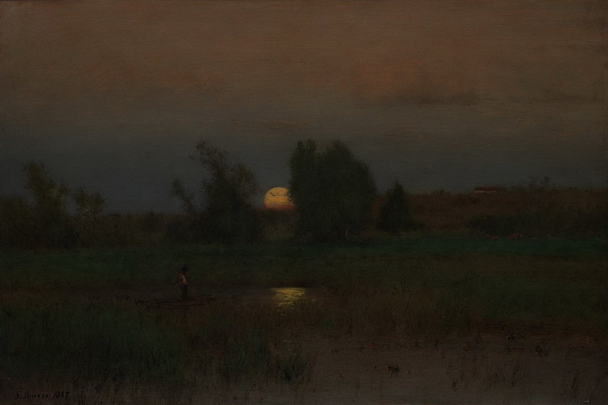 George Inness - Moonrise