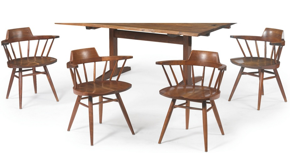 George Nakashima - Set Of Four Captain Chairs-1957