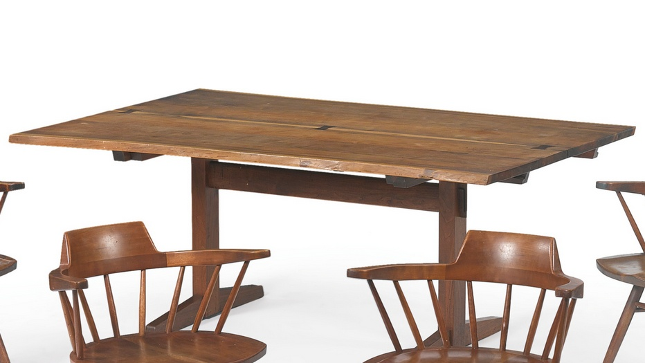 George Nakashima - Trestle Dining Table-1976
