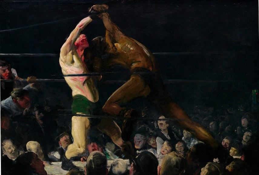 George Wesley Bellows - Both Members of This Club, 1909 - Image via wikimediaorg american musuem of american art made by american artists on american teritory