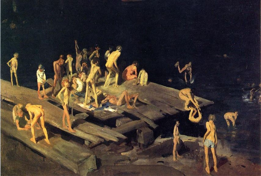 George Wesley Bellows - Forty Two Kids, 1907 - Image via oceansbridgecom