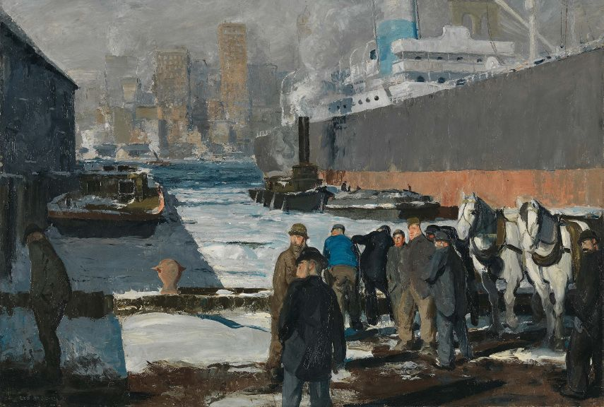George Wesley Bellows - Men of the Docks, 1912 - Image via wikimediaorg