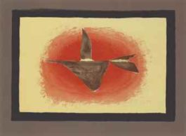 Georges Braque-Au couchant (Oiseau XVI)-1958