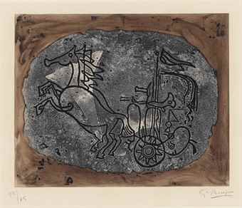 Georges Braque-Char noir (Char V)-1958