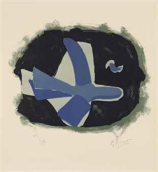 Georges Braque-Oiseau des forets (Oiseau XVII)-1958