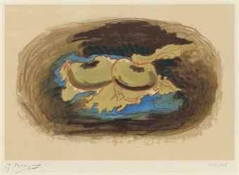 Georges Braque-Pommes et feuilles-1958