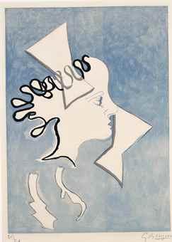 Georges Braque-Profil de Femme, from; Si je mourais la-bas-1962
