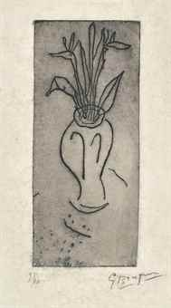 Georges Braque-Vase-1950