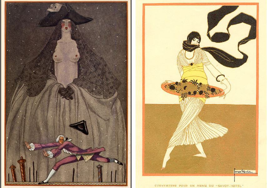 In 1930, Vogue cover for Paris Fair showed the new prints collection