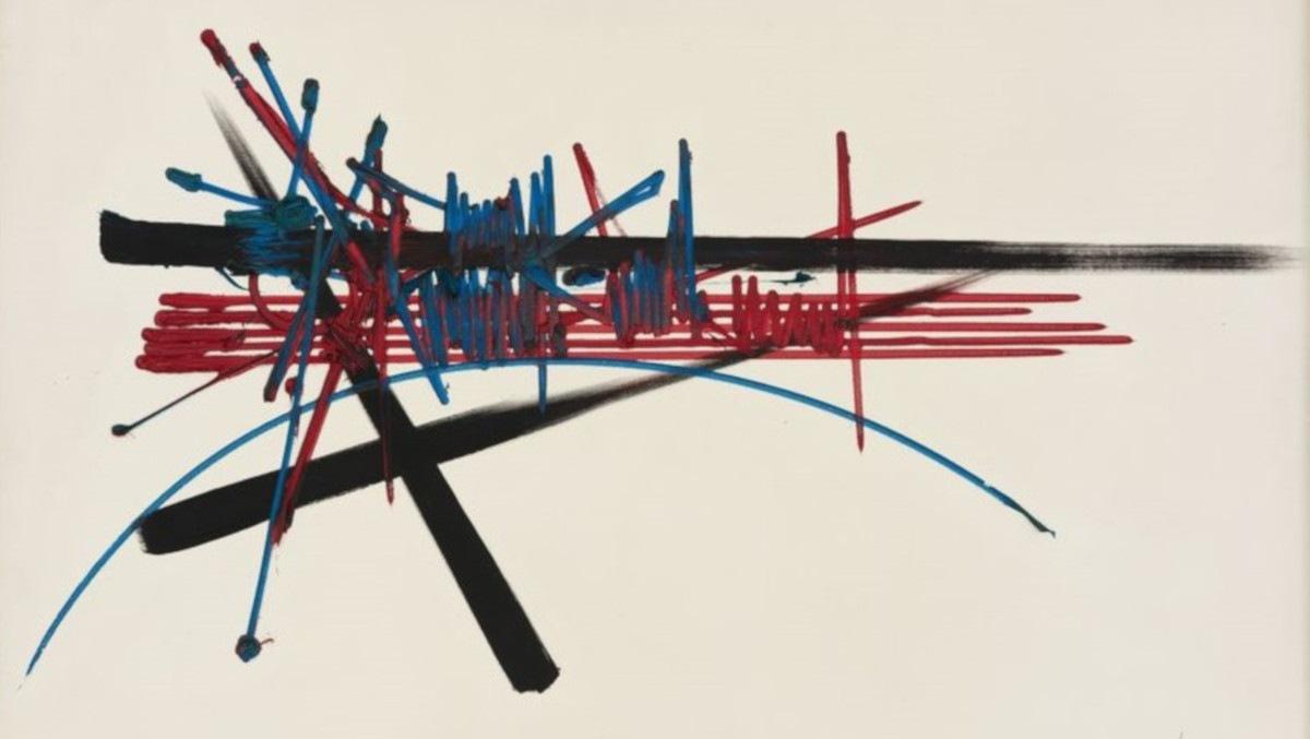 Georges Mathieu - Mouchet, 1960 (detail)