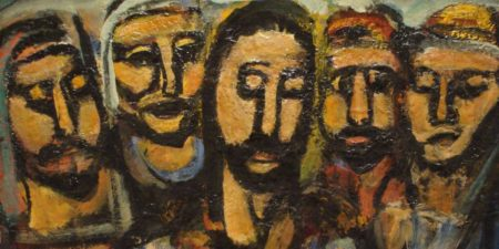 Georges Rouault - Christ and Apostles, 1937-38 (detail), expressionism, fauvism
