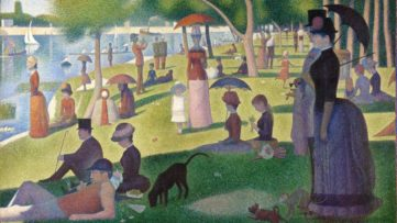 A Sunday Afternoon on the Island of La Grande Jatte, Seurat's Chicago Institute is a great museum to see how Seurat was an indirect part of impressionism