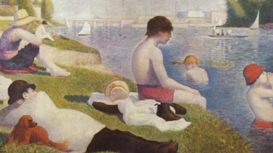 Georges Seurat - Bathing at Asnieres, 1884, photo via pinterest.com