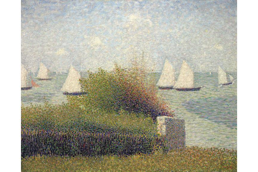 Georges Seurat - La rade de Grandcamp (Le port de Grandcamp), 1885