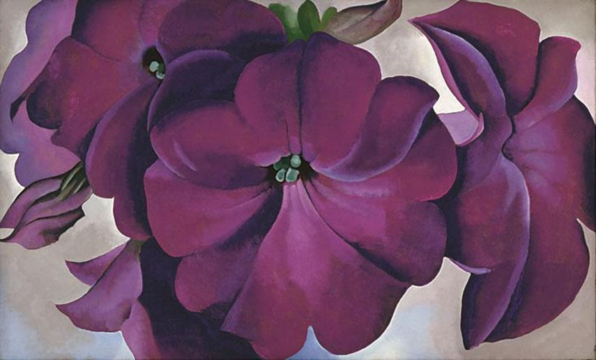 o'keeffe museum santa Georgia O'Keeffe - Petunias, 1924